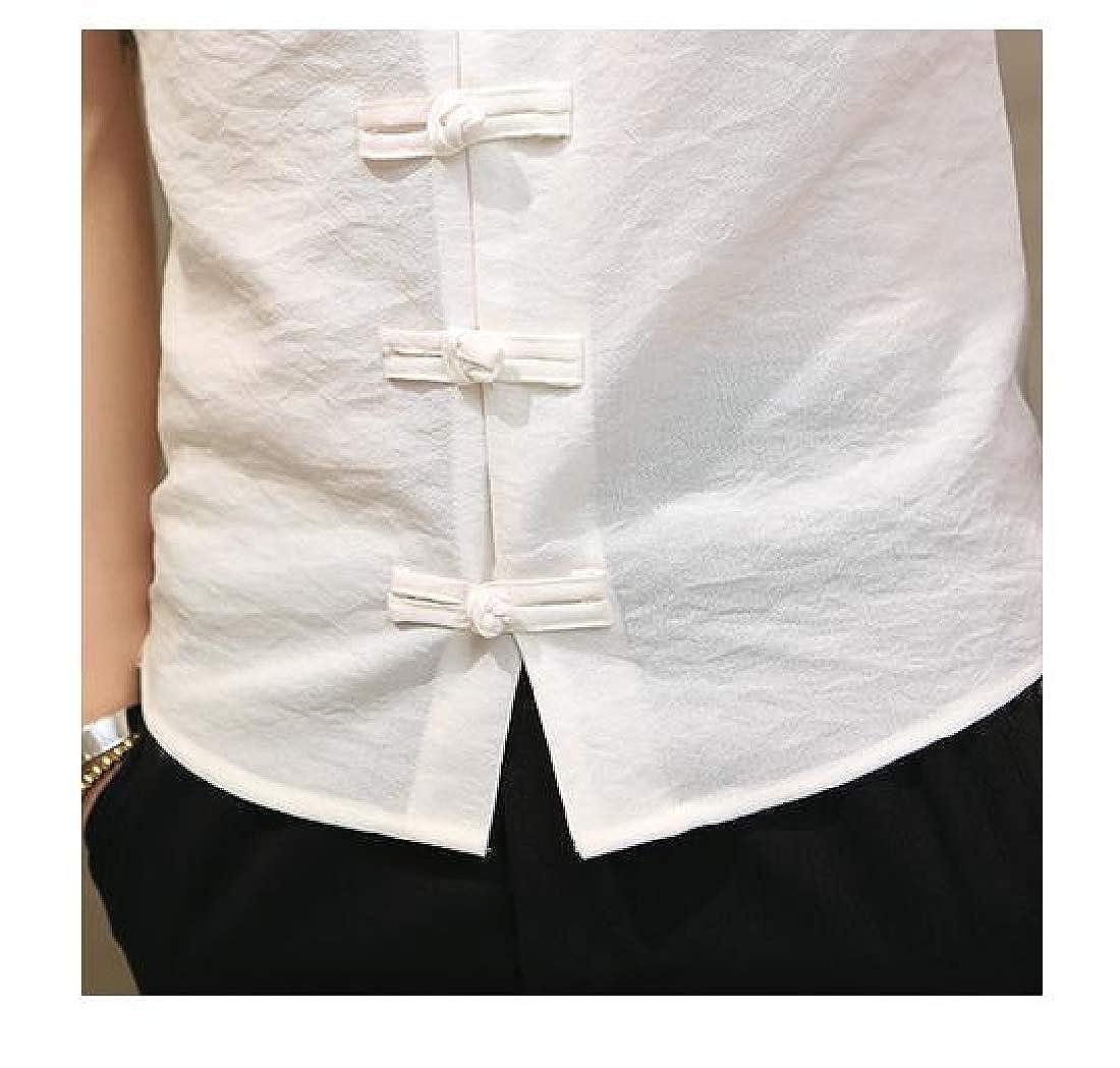VITryst-Men Single Breasted Plain Slimple Stytle Button Down Shirt