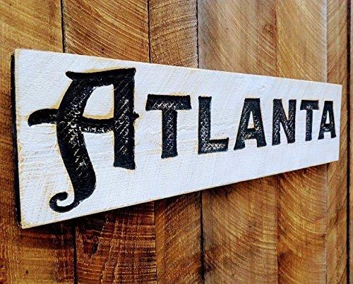 Emory Wood - Large Atlanta Carved Sign 40