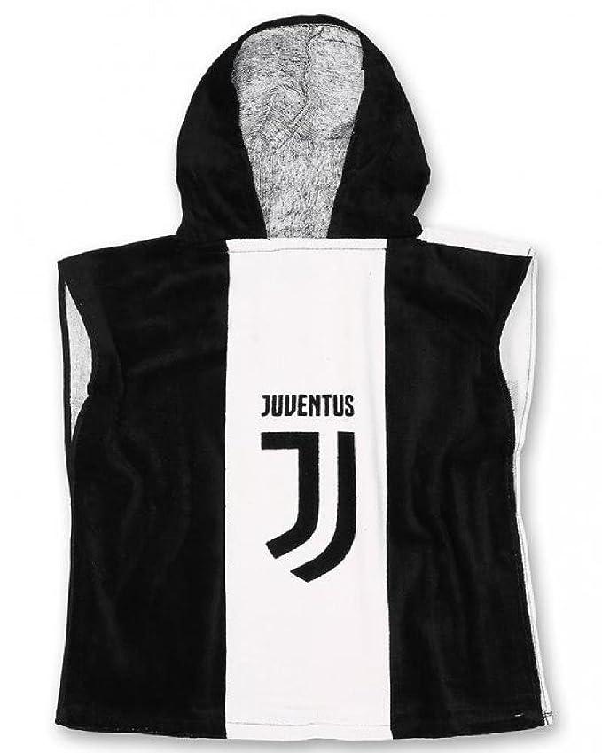 68bd8bf9b3ff Poncho Juventus FC - Telo Spugna mare - Accappatoio - Taglia Unica 50x50 -  Novia: Amazon.it: Giardino e giardinaggio