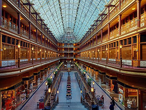 LAMINATED 30x22 POSTER: Cleveland Ohio Arcade Architecture Downtown Usa City Landmark Historic Shopping Mall Stores Shops Retail - Mall The Landmark