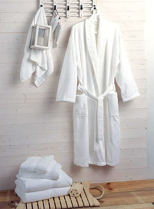Hotel and Spa Quality Luxury Towelling Bathrobe 400gms 100% Cotton ...