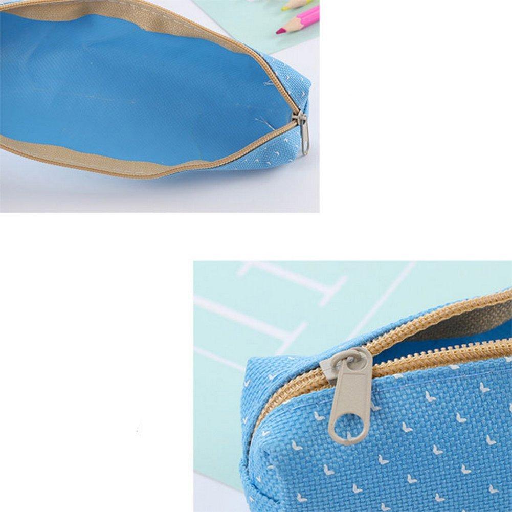 Cosanter matita bag custodia cute Blue Cat pattern Light tela per occhiali da trucco per donne