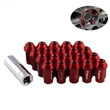 LIDAUTO Radmuttern Rad Muttern Diebstahlsicherungsschraube Kugelkopf Aluminiumlegierung M12 /× 1,5 、 M12 /× 1,25 35 mm LN045