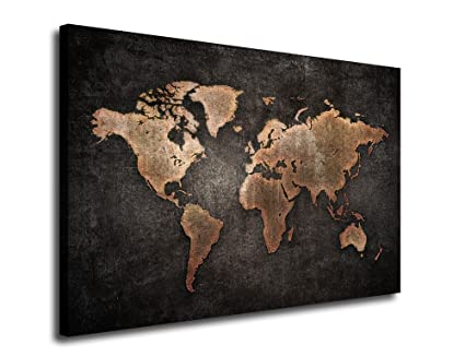 Amazon yearainn canvas wall art vintage world map canvas prints yearainn canvas wall art vintage world map canvas prints 24quot x 36quot framed gumiabroncs Gallery