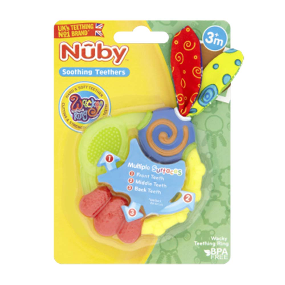 3 Months 3 Pack Steady Nuby 3 Step Teether Set Soothing Baby Teething Gel Infant Toy Teethers Baby