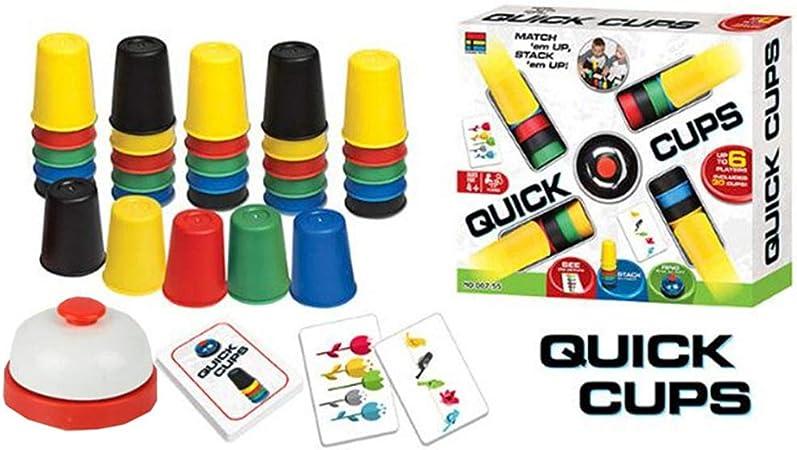 Juegos De Cartas Quick Cup Tazas Rápidas para Juegos De Mesa Al Aire Libre En Interiores para Niños Family Quick Cups Juguetes Divertidos 4-6 Jugadores: Amazon.es: Hogar