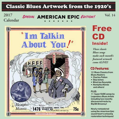 Classic Blues Artwork 1920s Calendar