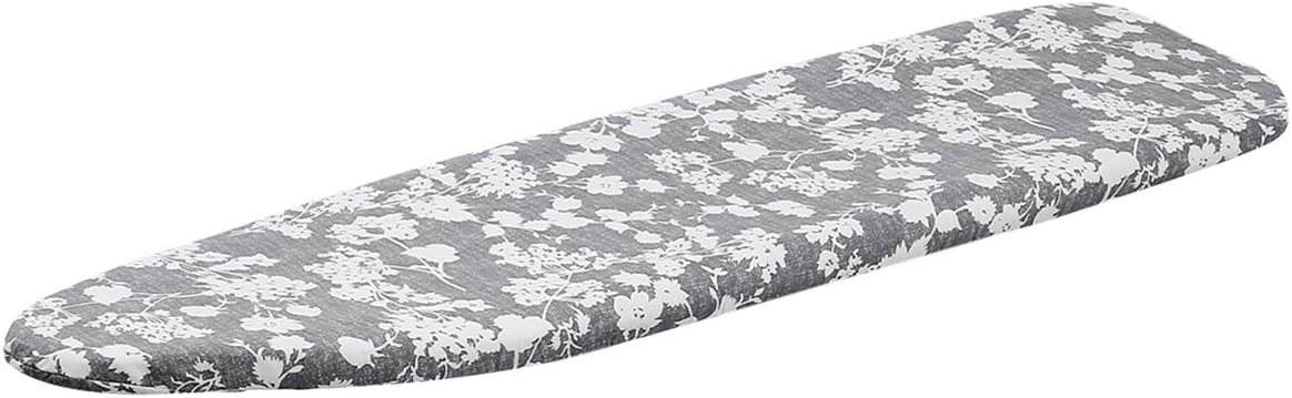Grey Floral MZXcuin 15 x 54 Padded Ironing Board Cover Scorch Resistant Extra Thick Cotton Iron Cover with Padding Heat Reflective Heavy Duty Pad