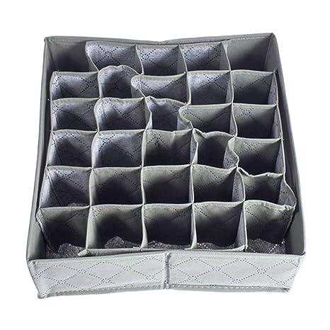 BESTOMZ 30 celdas plegables ropa interior Sujetador calcetines organizador cajón separador caja de almacenamiento