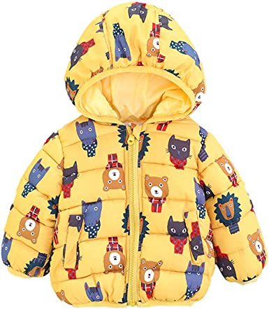 Lurryly❤Unisex Jackets,Boys Girls Winter Children Outwear Fall Warm Coats Hooded Clothes for 0-24 M