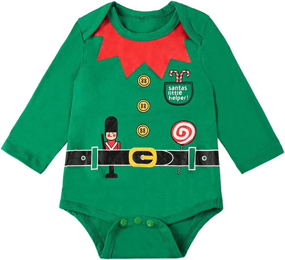 Infant Baby Boy Christmas Elf Outfits Xmas Clothes Pant Sets with Hat