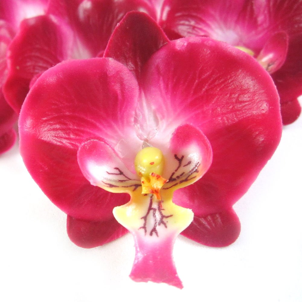 12-Small-Burgundy-Phalaenopsis-Orchid-Silk-Flower-Heads-2-Artificial-Flowers-Heads-Fabric-Floral-Supplies-Wholesale-Lot-for-Wedding-Flowers-Accessories-Make-Bridal-Hair-Clips-Headbands-Dress