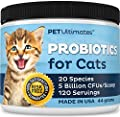 Pet Ultimates Probiotics for Cats - 20 Species - Stops Diarrhea & Vomiting, Cuts Litterbox Smell by PetUltimates