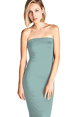 L21 Women's Basic Strapless Bodycon Tube Mini Dress (Many Colors Available)