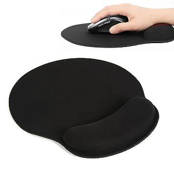 Alfombrilla de ratón, Extended Gaming Mouse Pad con Reposamuñecas Esponja de Memoria Ergonómico para Trabajadores y Jugadores Color Negro