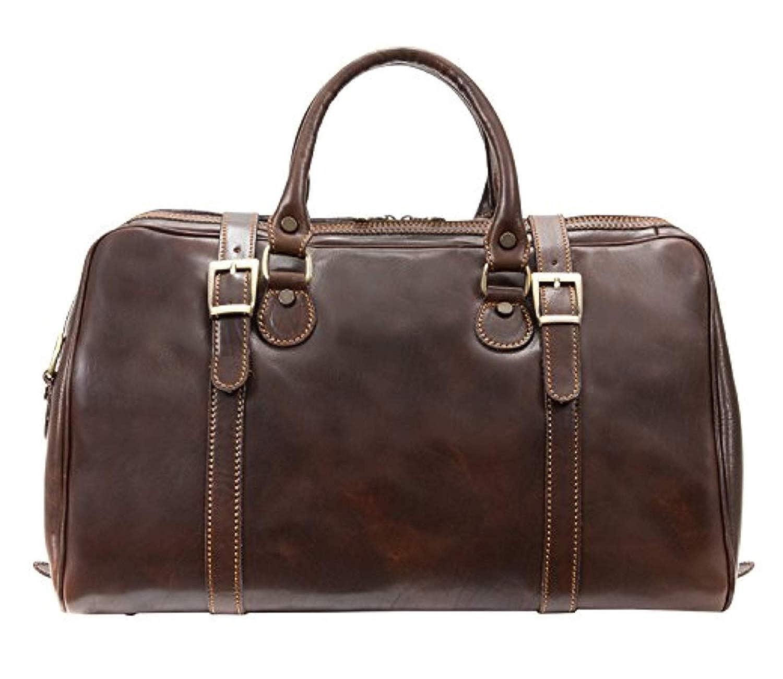 Image of Alberto Bellucci Italian Leather Carry-on Wayfarer Duffel Bag Luggage