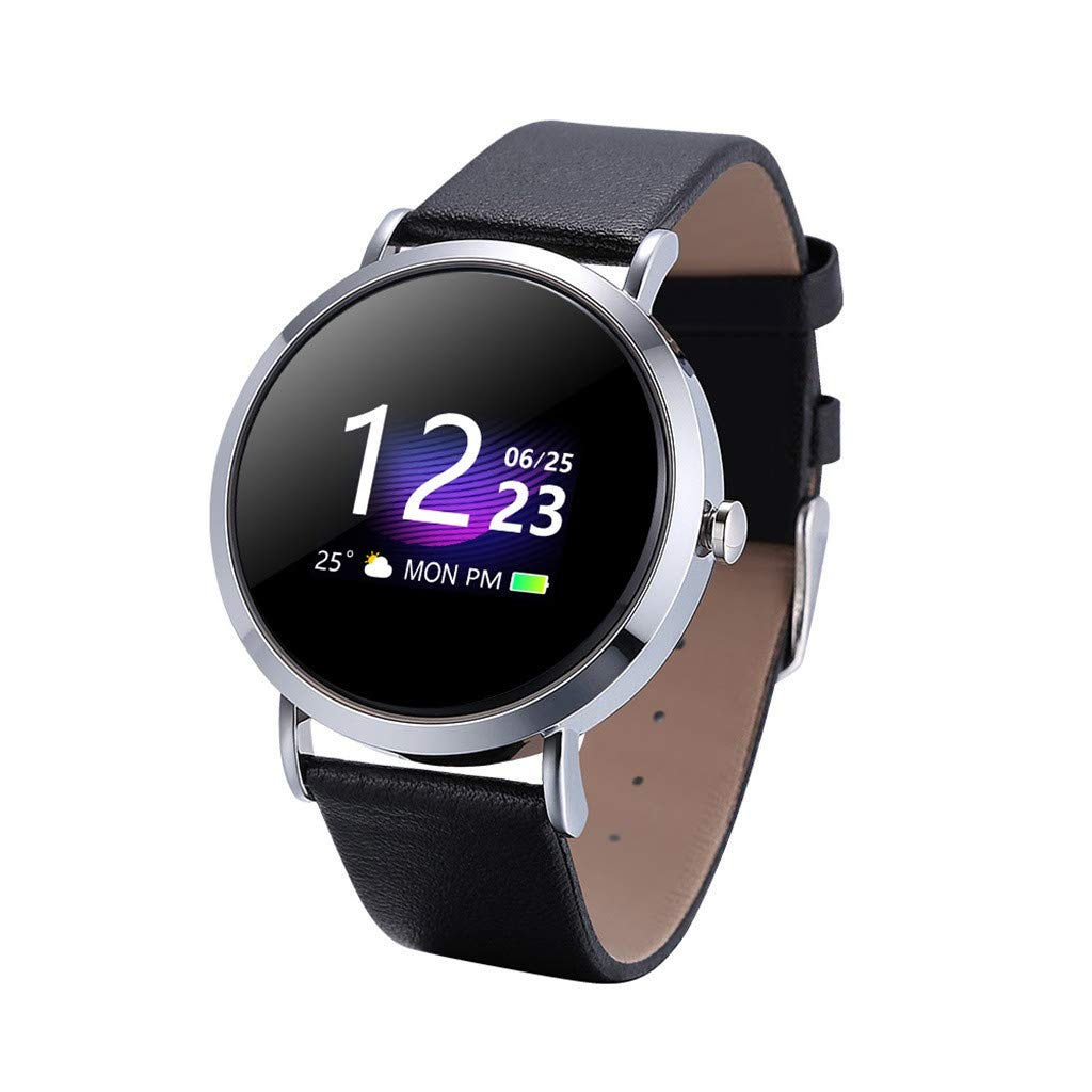 For iOS Android, Waterproof Sport Smart Watch Fitness Activity Blood Pressure Heart Rate Sleep Monitoring Smart Bracelet (F)