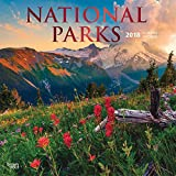 National Parks 2018 12 Inch x 12 Inch Square Wall Calendar with Foil-Stamped Cover, America USA Outdoors (English, French and Spanish Edition)