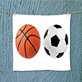 L-QN gym shower towelsoccer band basketbbcloseup soccer band basketbbon isolated for Home, Hotel and Spa W19.7 x W19.7