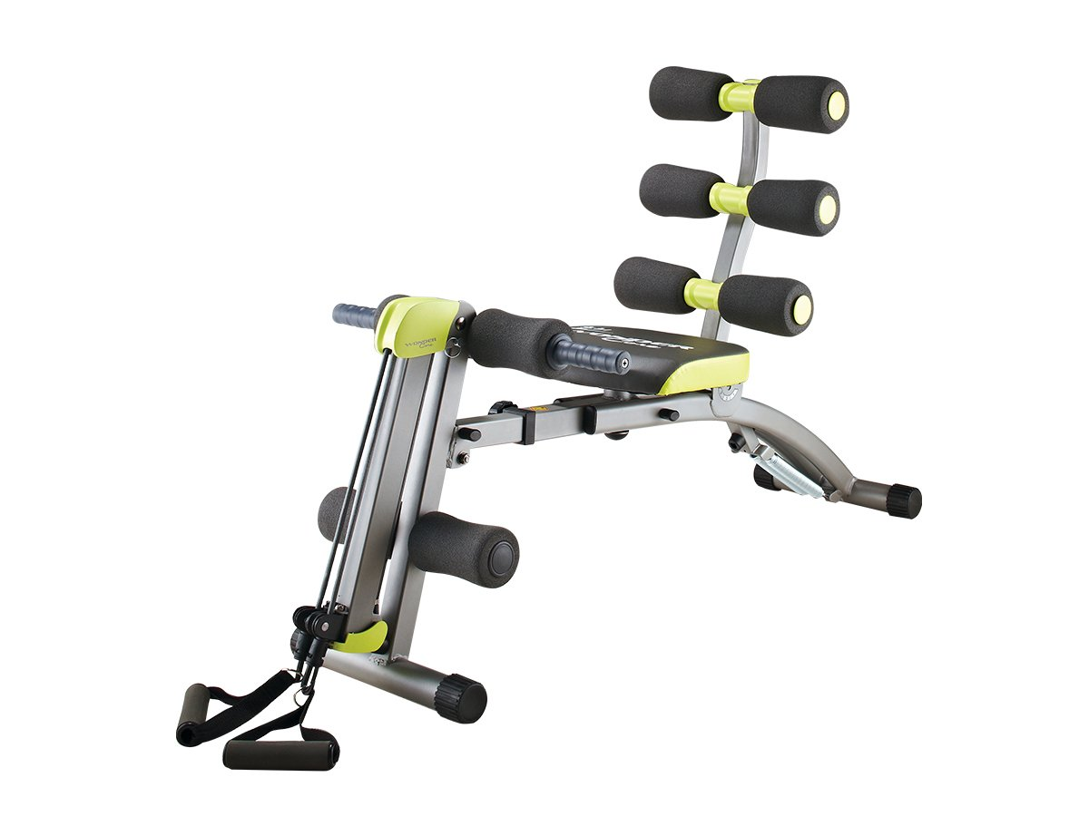 Wonder Core 2 Sit up exerciser - 12 IN 1 New Ab Sculpting System - Ergonomic Design - Beyond 180° - Stretching with 360° Twisting ( DVD Video and Nutrition Meal Plan Included ) by WONDER CORE