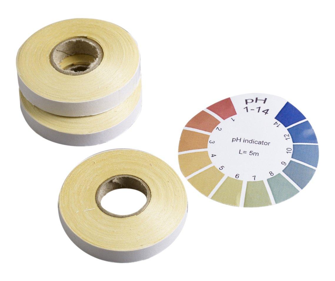 Camlab 1171261 papier Indicateur universel recharge, PH 1– 14, bobine de 3 x 5 m (lot de 3) PH 1-14 bobine de 3x 5m (lot de 3)