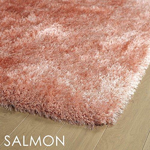 Bombay Home Hand-Tufted Dazzle Shag Runner (2'3 x 8') Salmon Runner - 8' Runner Salmon