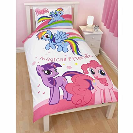 Lenzuola My Little Pony.Completo Letto Singolo Lenzuola Copripiumino My Little Pony Double Face