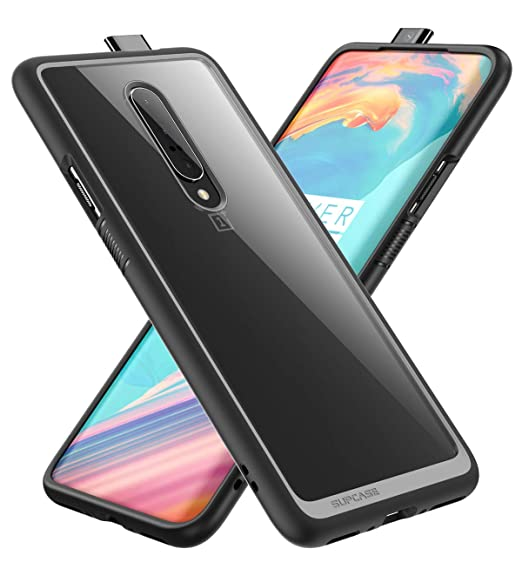 SUPCASE [Unicorn Beetle Style Series] Case for Oneplus 7 pro, Premium Hybrid Protective Clear Oneplus 7 pro Case (Black)