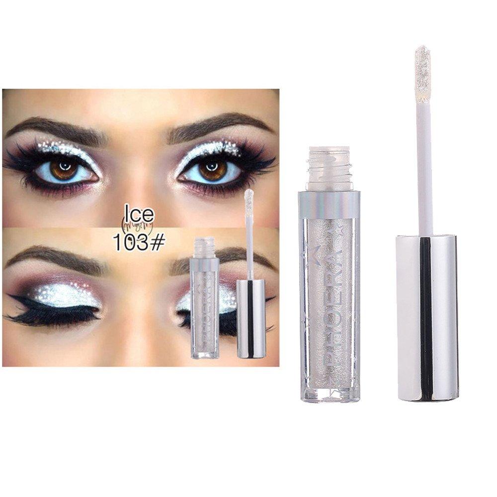 Fards à paupières, Magnificent Metals Glitter et Glow Ombre à paupières liquide Eyeshadow-Lonshell (Violet E)