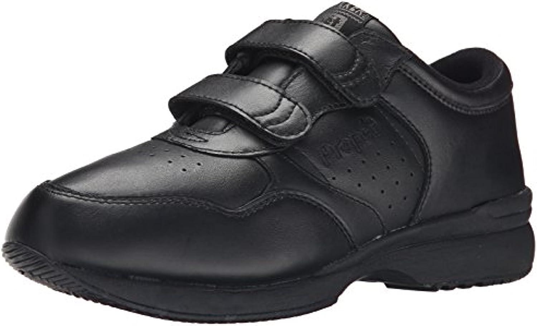 Propet Men's LifeWalker Strap Shoe Black 11 M (D) & Oxy Cleaner Bundle