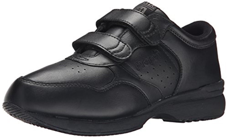 Propet Men's Life Walker Strap Shoes & Oxy Cleaner Bundle 3 E US|Black
