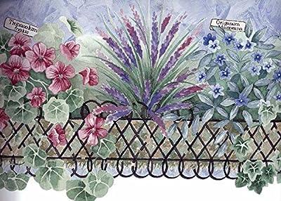 Violet Pink Garden Wallpaper Border 5803650