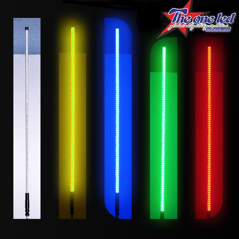 LED Light Whip TheOne Super Bright Double Rope RGB with Upgraded Quick Connect LED Sand Flag Antenna for Polaris RZR UTV ATV Racing Motorcycle Offroad Truck Boat 5FT, RGB