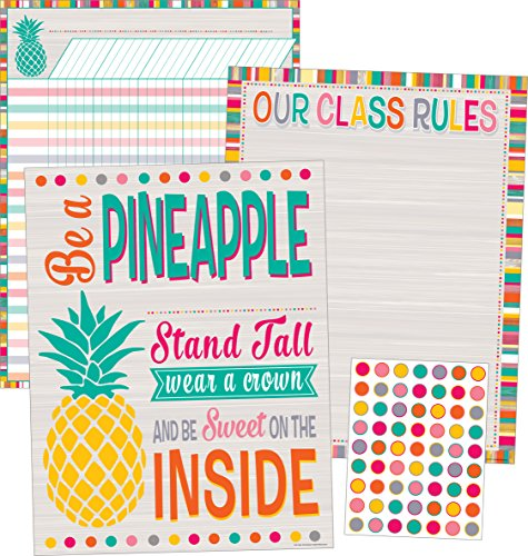 Tropical Punch Classroom Essentials Chart Pack