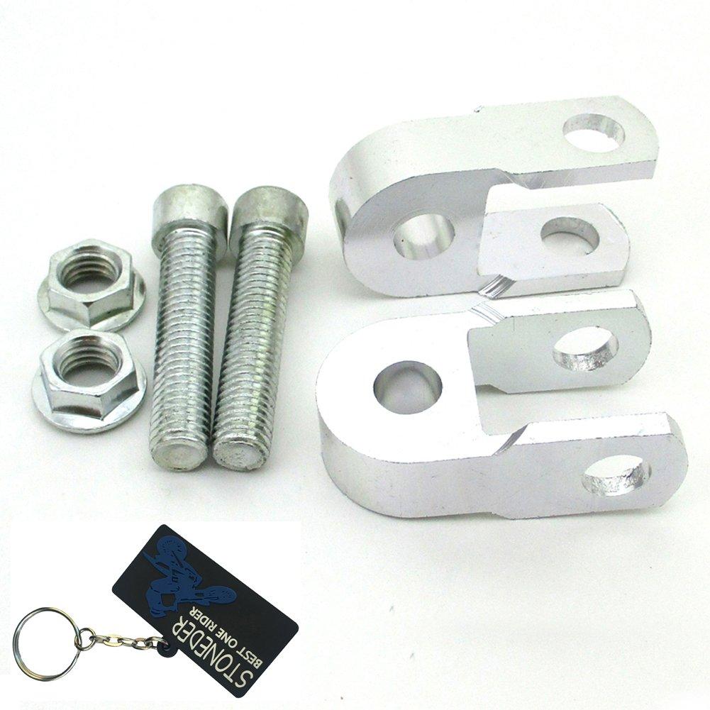 Stoneder ammortizzatore in alluminio CNC argento altezza estensione Extender riser per ATV Quad moto motore Pit Bike Dirt Trail