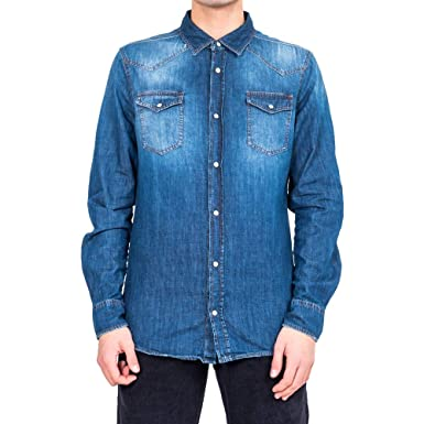 online store 7237a 0f93d uni-form Camicia Uomo Uniform Denim Shirt Slim Fit UM5055 ...