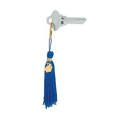Fun Express - Blue Grad Tassel Key Chain for Graduation - Apparel Accessories - Key Chains - Novelty Key Chains - Graduation - 12 Pieces: Toys & Games