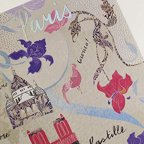 Paris CS08 Cityscape Greeting Card by Josie Shenoy