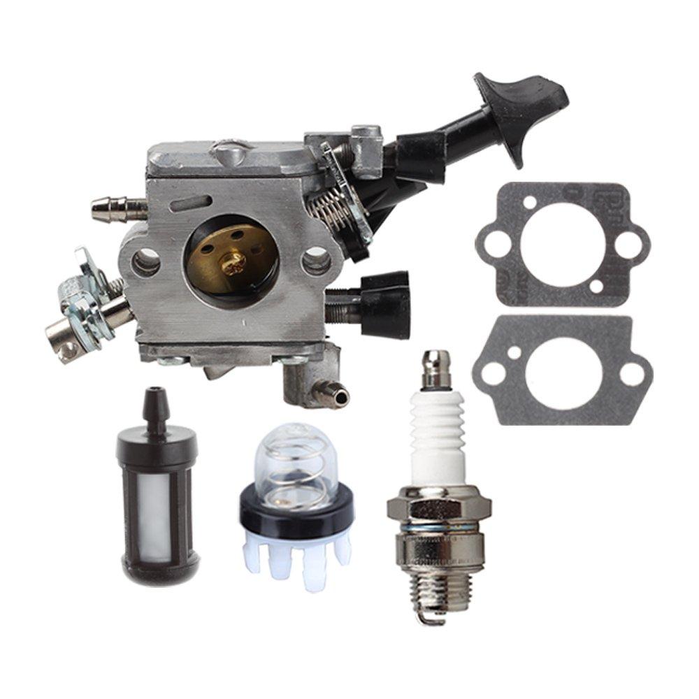 HIPA Carburetor with Primer Bulb Spark Plug for STIHL BR350 BR430 BR450 BR450C-EF SR430 SR450 Blower