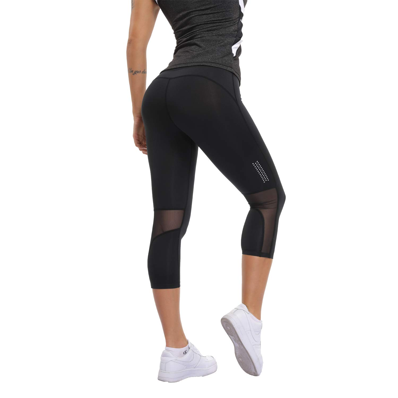 13c7dc3255a16 Amazon.com : RIOJOY Women's Patchwork Mesh Yoga Pants for Women, High Waist  Tummy Control Skinny Fitness Leggings Active Tights : Clothing