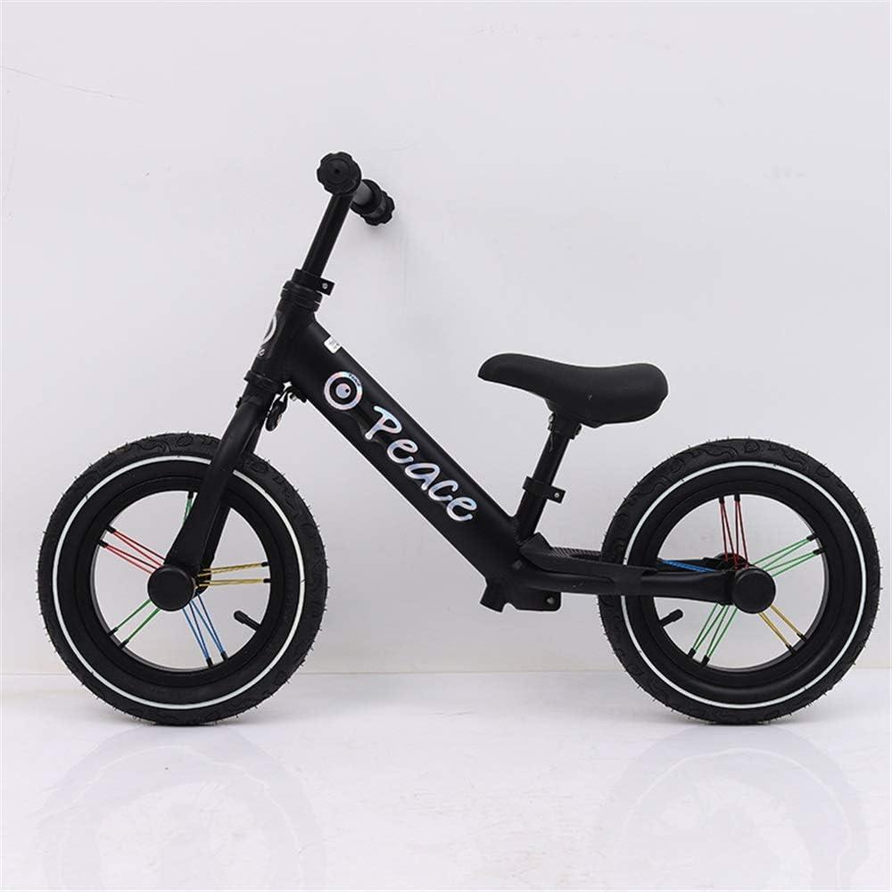 Colores empuje las bicis For las edades de 2 a 7 años Antiguo equilibrio bicicleta for niños Deportes ligeros de 12 pulgadas sin pedal de la bicicleta con manillar ajustable y el niño del asiento de l