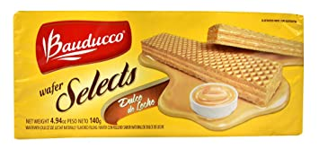 Image Unavailable. Image not available for. Color: Bauducco Wafer Selects Cookies Dulce de Leche ...