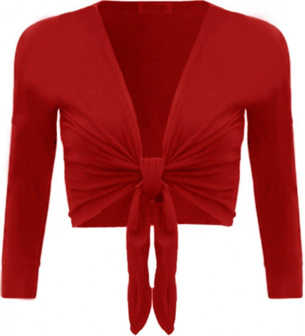 Womens Tie up Long Sleeve Bolero Shrug Club Wear Top