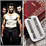 Wolverine X-men James Logan Army Military Metal Pendant Chain Dog Tag Necklace