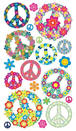 Sticko Floral Peace Signs Stickers ()
