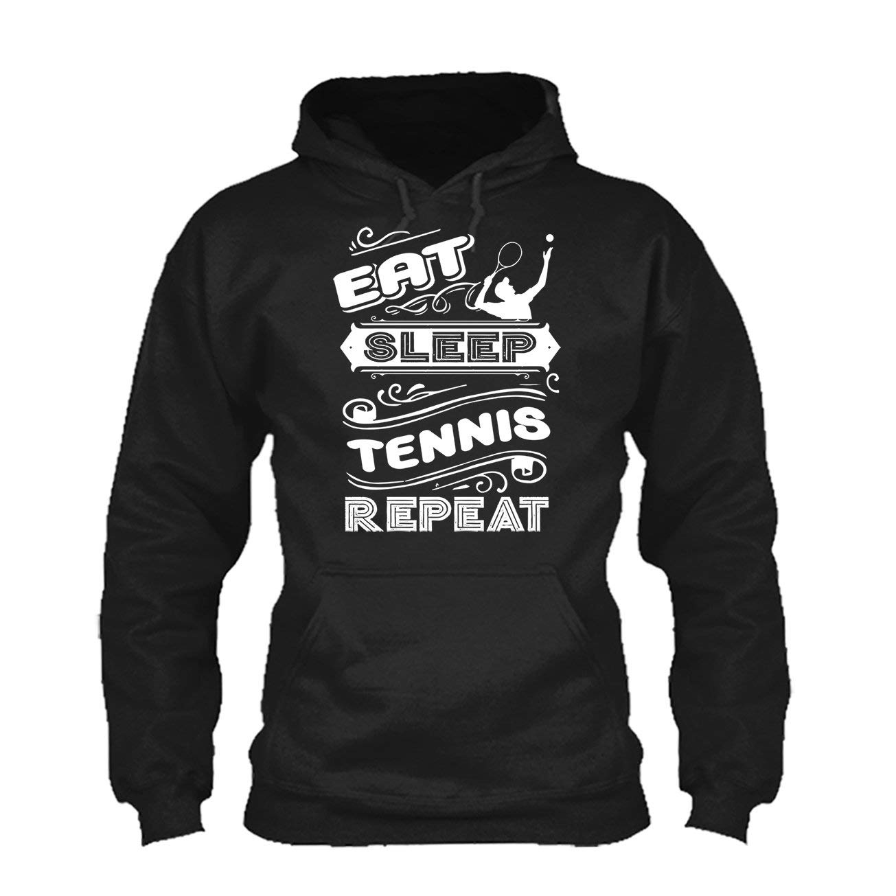 LightRed Eat Sleep Tennis Repeat Tee Shirt Cool Sweatshirt Hoodie
