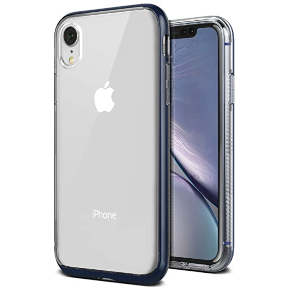 pretty nice 5242a d88dd iPhone XR Case, VRS Design [Blue] Transparent Dual Layer Heavy Duty  Protection [Crystal Bumper] Anti-Yellowing TPU Body PC Bumper Compatible  with ...