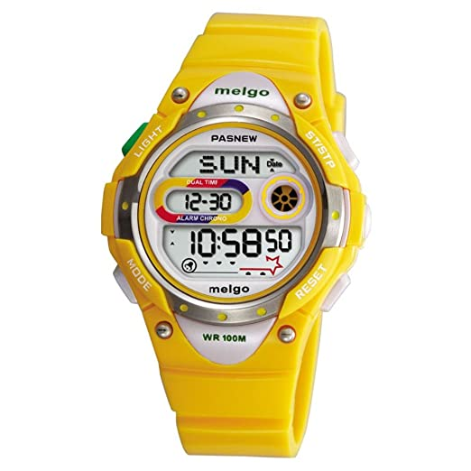 jewtme LED resistente al agua 100 m Sports reloj Digital para niños niñas niños con tres alarmas: Amazon.es: Relojes