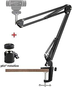 Anivia Webcam Stand,Webcam Clamp Mount Suspension Scissor Tripod Stand Holder Camera arm for Webcam W8 W5 C922 C930e C930 C920 C615