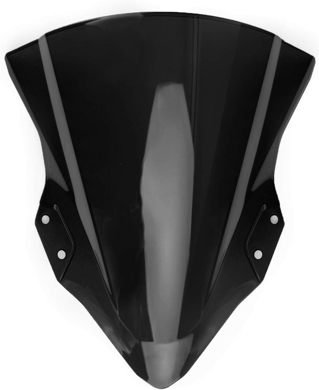 Artudatech Pare-Brise de Moto Pare Brise Avant Moto Pare-vent Windshield Windscreen pour KAWASA-KI Ninja 400 2018-2019